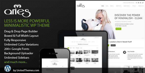 Aries Responsive Business WordPress Theme by UnitedThemes