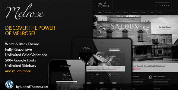 Melrose Responsive Portfolio WordPress Theme by UnitedThemes