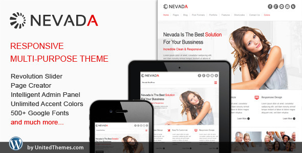 Nevada - Responsive Multi-Purpose Theme by UnitedThemes