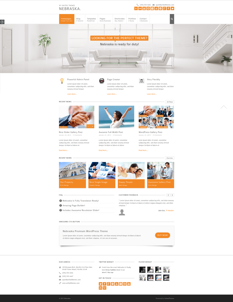 Nebraska - Responsive Multi-Purpose Theme by UnitedThemes