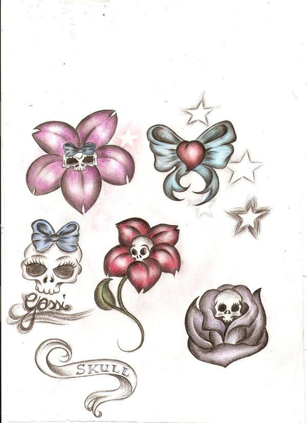 Flower Flash - flower tattoo