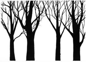 2004 winter trees by pommefritz