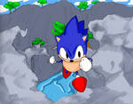 sonic: crystal canyon (cover art)