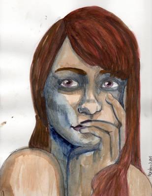 20151113 Blue Girl by pommefritz