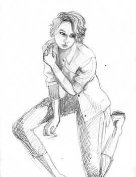20151113 Kneeling Sketch