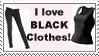 I love black clothes