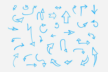 Free Hand Drawn Vector Arrows by Graphicdome