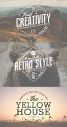 Free Vintage Badges Set by Graphicdome