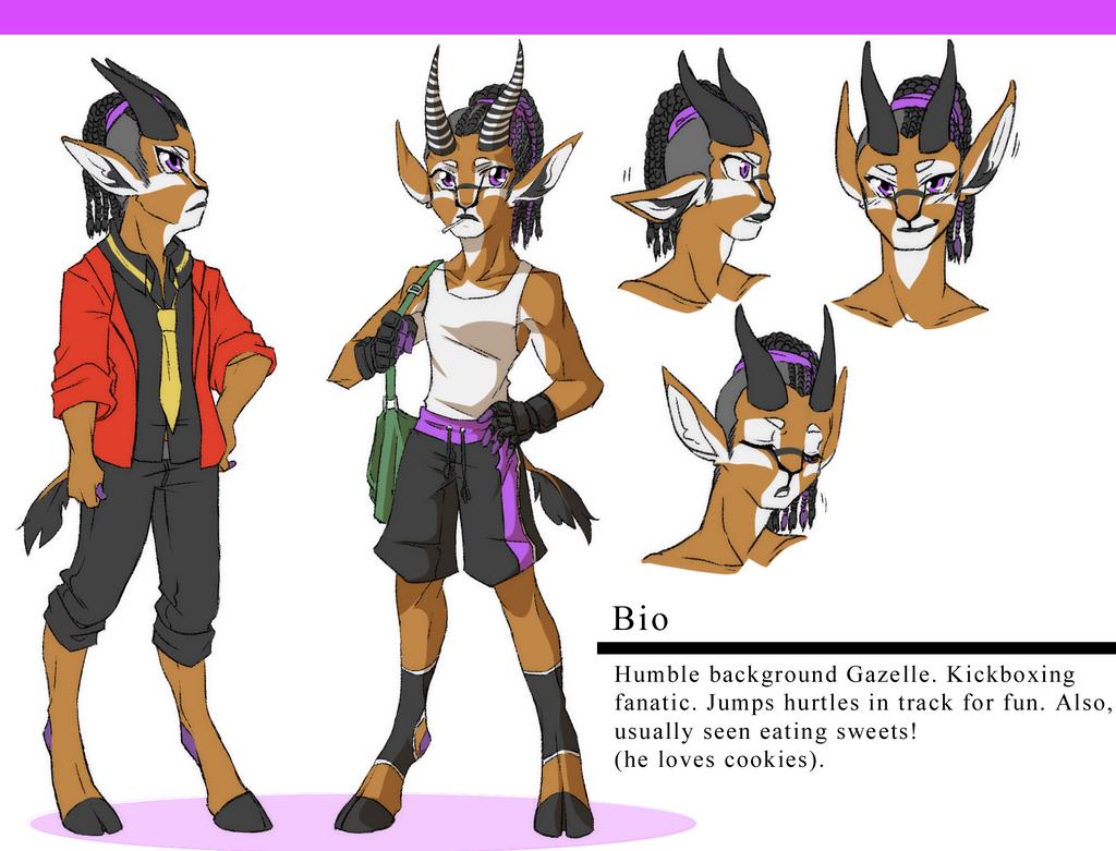 RikDik Character Design: Gazelle by trana-girl426