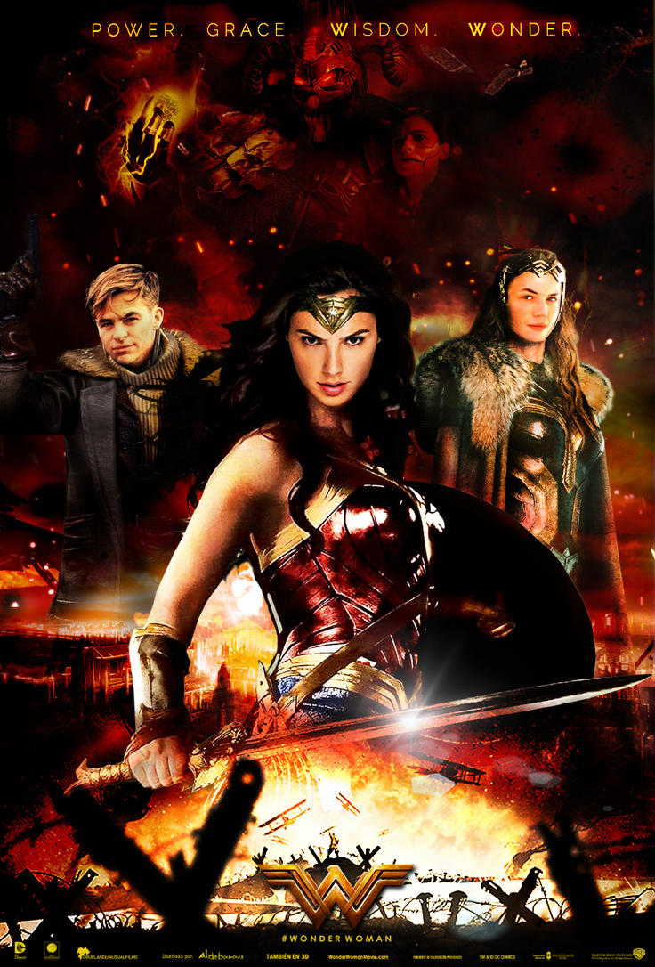 Wonder woman movie poster 2017