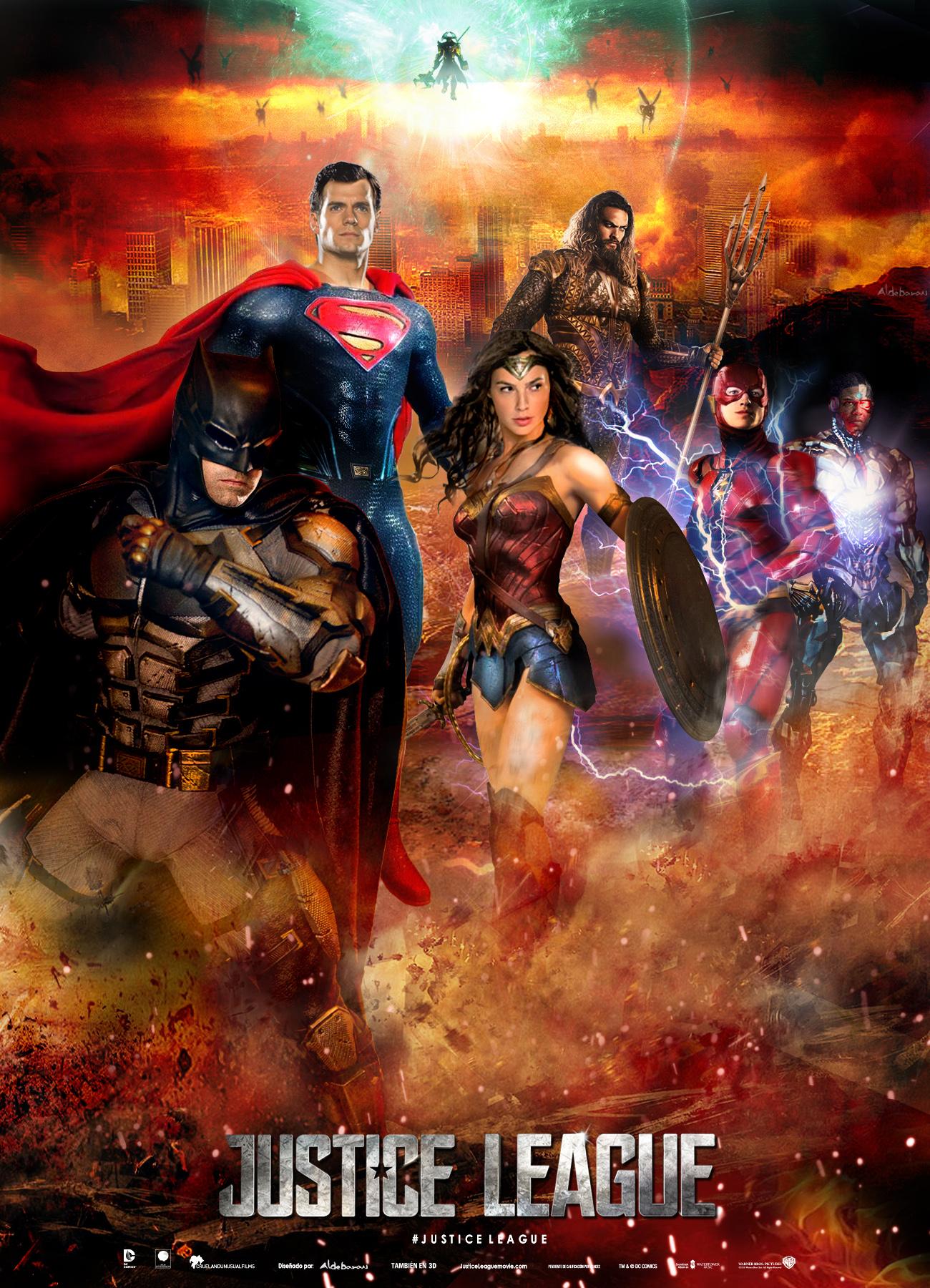 Justice League Movie Poster 3 by SaintAldebaran on DeviantArt