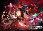Justice League vs Steppenwolf poster