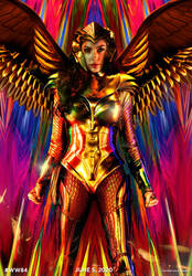 Wonder Woman 1984 poster (Golden Eagle Armor)