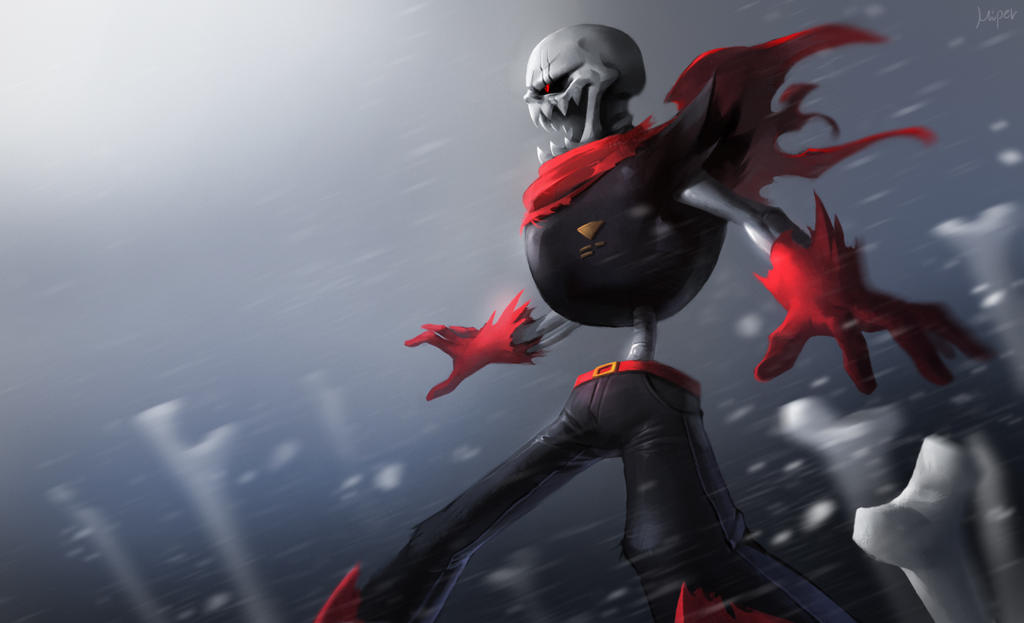 Underfell Papyrus by superyoumna on DeviantArt