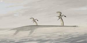 Elasmosaurus and Nyctosaurus