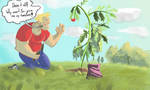 Bob is kind of bad at gardening