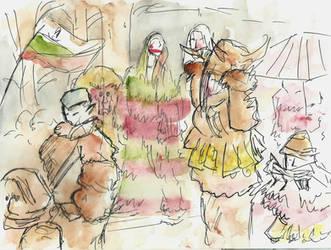 Red Cheeks and Lips - Surva Festival by IanCookeTapia