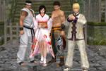 Kokoro and her bodyguards