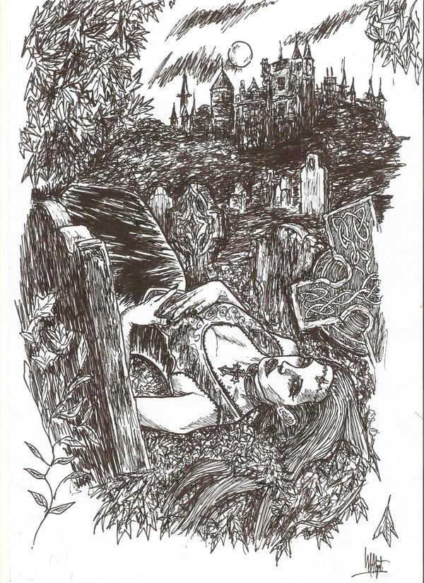 She waits by mater-memento-mori