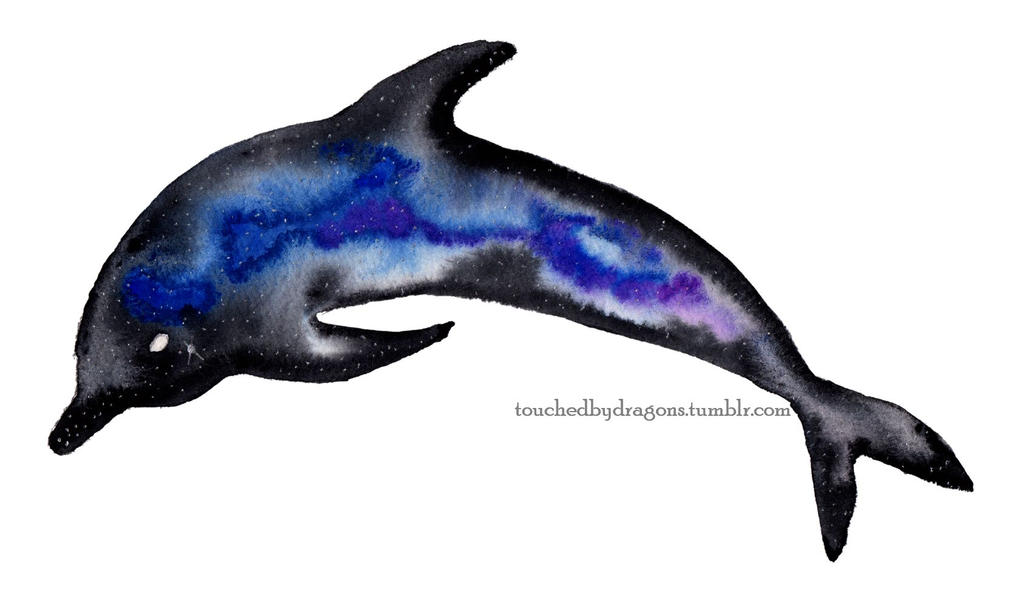 Galaxy Dolphin by TouchedbyDragons