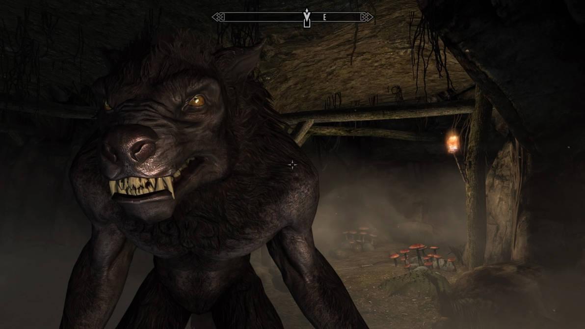 Skyrim PS4: Hungry Werewolf by roundularman on DeviantArt