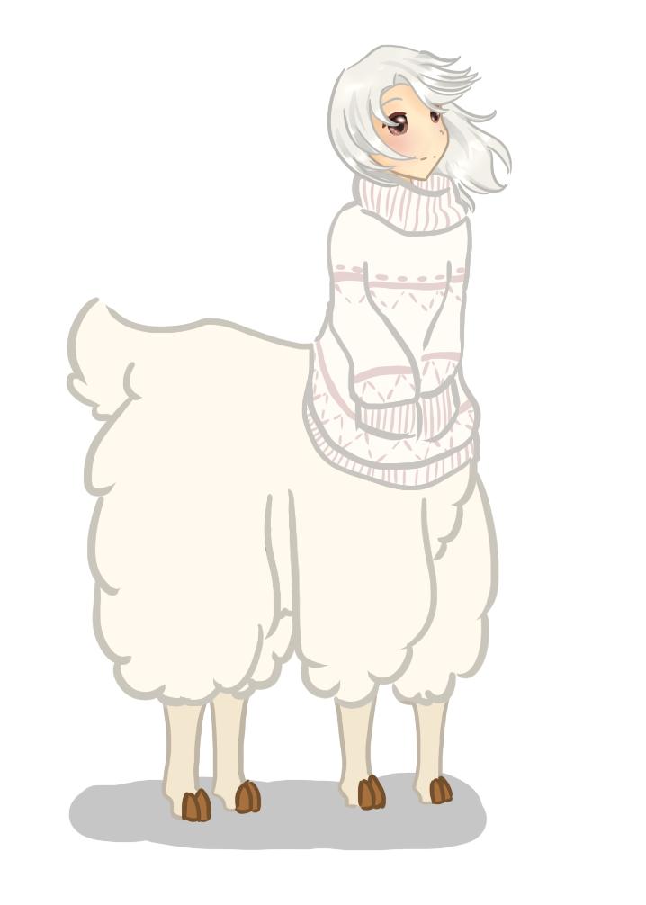 Chou the Alpaca by evvervescent