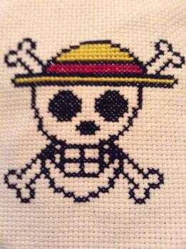 Luffy Flag Cross Stitch