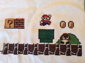 Super Mario Scene Cross Stitch