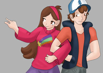 Gravity falls- The Mystery twins (aged up) by Muse-comics