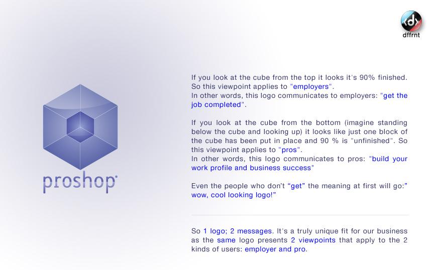 Proshop logo by dffrnt by vijay-dffrnt