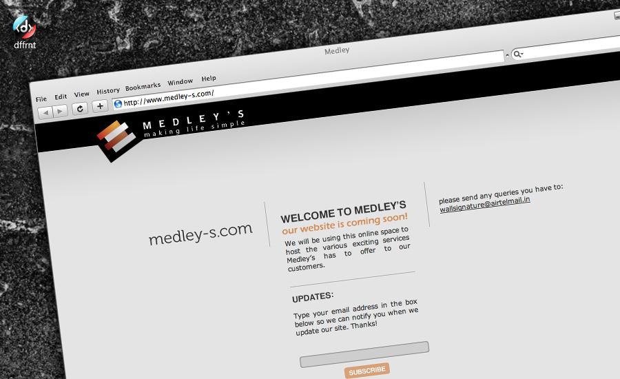 Webdesign:Medley's startpage by vijay-dffrnt