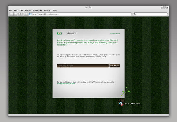 Webdesign:Osmium startpage by vijay-dffrnt