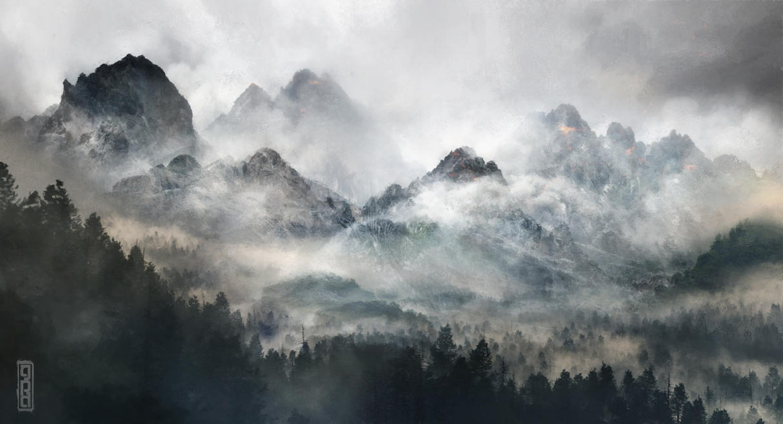 Misty Mountains by TavenerScholar