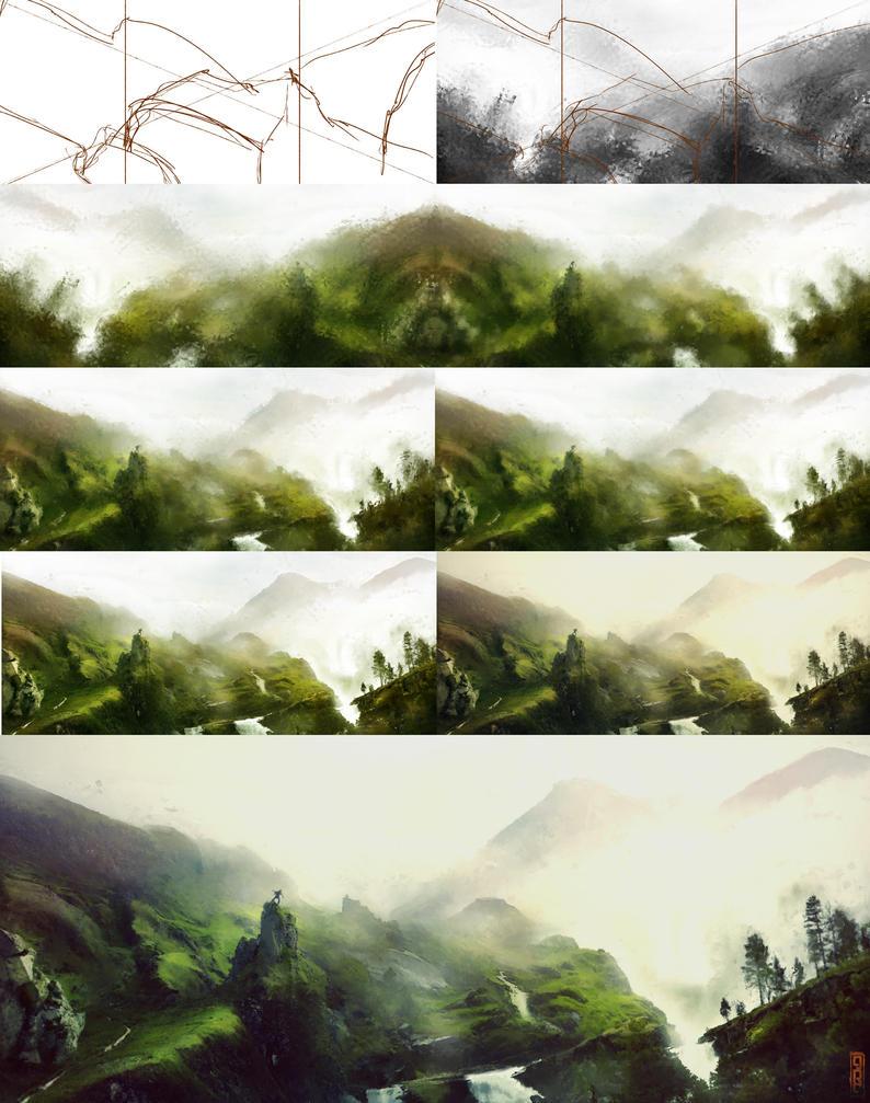 Hiker Process by TavenerScholar