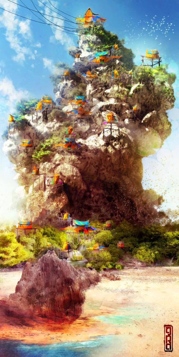 Fishing Village Concept by TavenerScholar