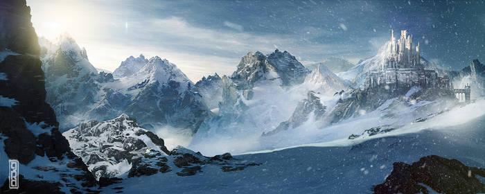 Mountain Castle Matte by TavenerScholar