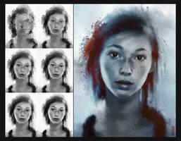 Ellie Portrait Process by TavenerScholar