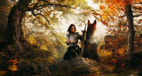 Beren and Huan by TavenerScholar