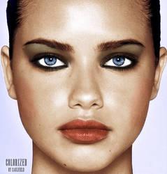 Adriana Lima Colorization by LisCaulfield