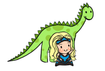 Beth Phoenix and a Dinosaur :o by Vanilla-Rocket