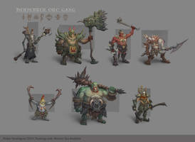 A Gang Of Orcs