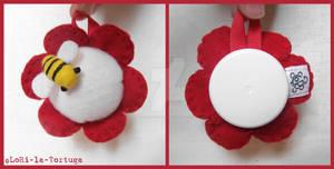 RED FLOWER PINCUSHION