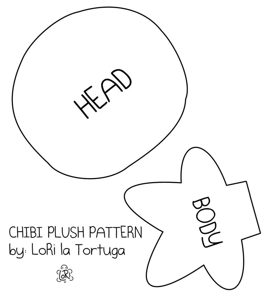 chibi plush pattern by LoRi-La-Tortuga