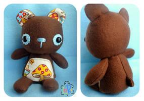 Mushroom Bear Plush by LoRi-La-Tortuga