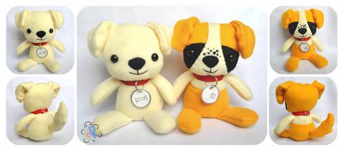 COMMISSION - two doggies by LoRi-La-Tortuga