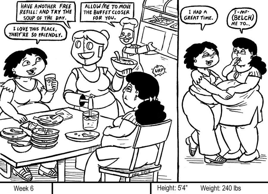 Girl Weight Gain Comic Deviantart 97138   WALLPLUS