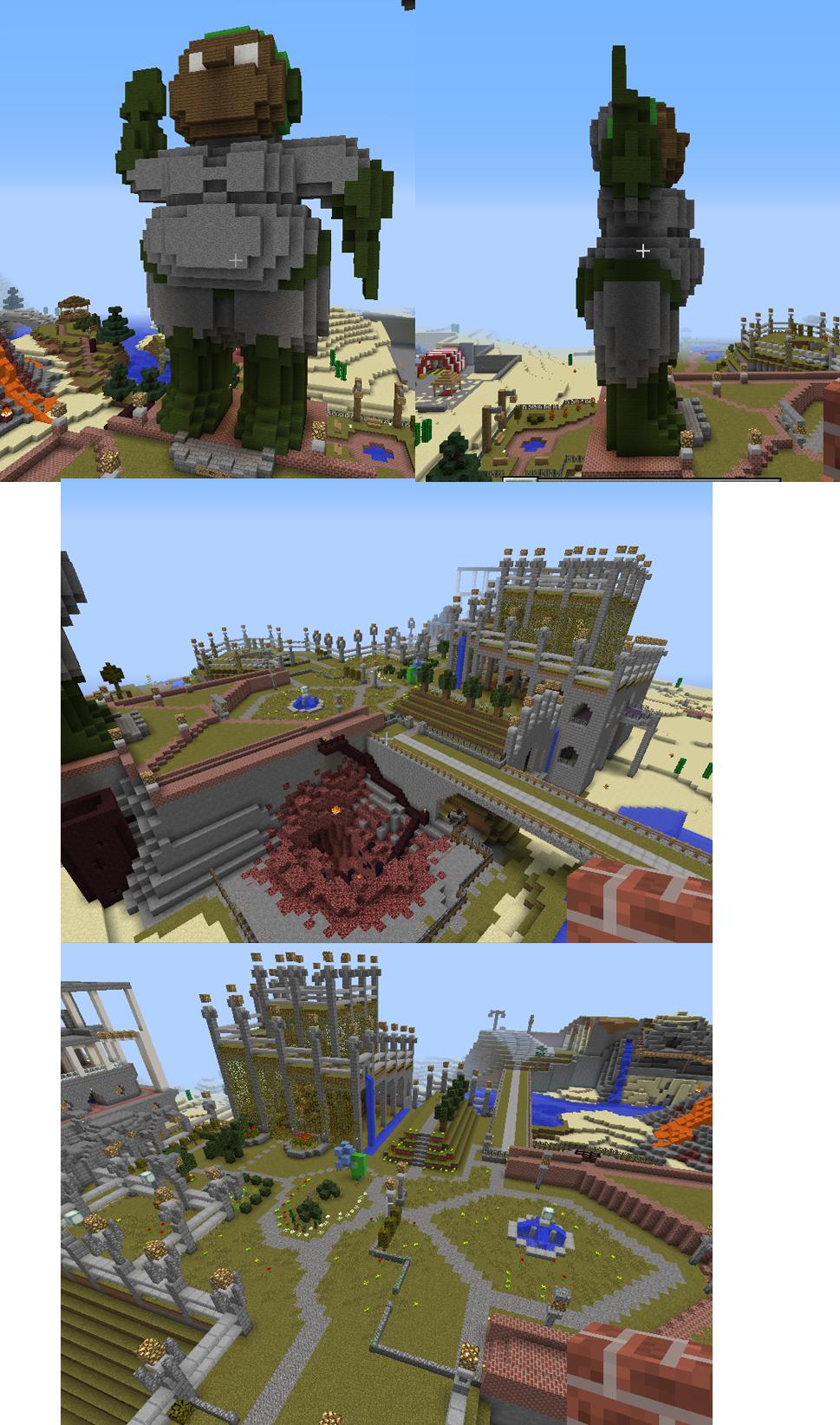 Minecraft How To Make A Cake Statue