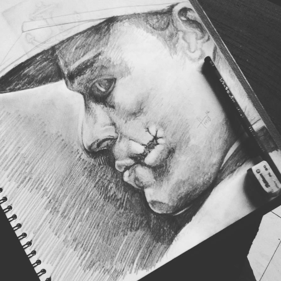 The joker pencil sketch by fidamaswad