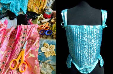 Tools Fabrics and Renaissance Stays