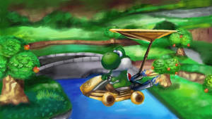 Yoshi in Mario Kart 8